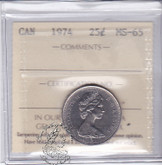 Canada: 1974 25 Cents ICCS MS65 Coin nr 4