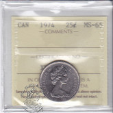 Canada: 1974 25 Cents ICCS MS65 Coin nr 6