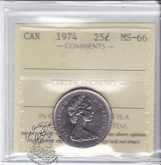 Canada: 1974 25 Cents ICCS MS66 Coin nr 2