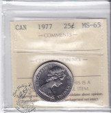 Canada: 1977 25 Cents ICCS MS65 Coin nr 1