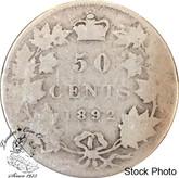 Canada: 1892 50 Cents Obv. 3 FILLER