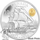 Canada: 2012 $10 HMS Shannon Pure Silver Coin