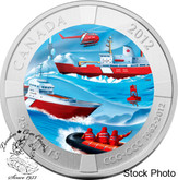 Canada: 2012 25 Cent The 50th Anniversary of the Canadian Coast Guard Coloured Coin