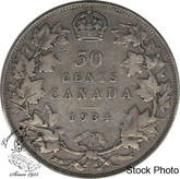 Canada: 1934 50 Cents VF20