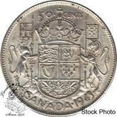 Canada: 1943 50 Cents Near 3 EF40