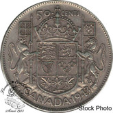 Canada: 1943 50 Cents Far 3 EF40