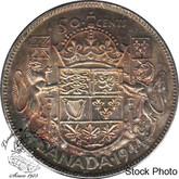 Canada: 1944 50 Cents Near 4 MS60