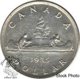 Canada: 1935 $1 Dollar AU50