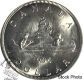 Canada: 1936 Silver Dollar MS62