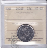 Canada: 2002P 25 Cents ICCS MS65 Coin nr 2