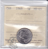 Canada: 1969 5 Cents ICCS MS65 Coin nr 3