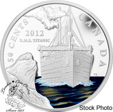 Canada: 2012 50 Cent R.M.S. Titanic Silver-Plated Coloured Coin