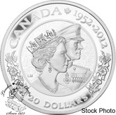 Canada: 2012 $20 The Queen's Diamond Jubilee - Queen Elizabeth II & Prince Philip Silver Coin