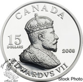 Canada: 2008 $15 Vignettes of Royalty - King Edward VII Sterling Silver Coin