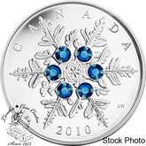Canada: 2010 $20 Blue Snowflake Silver Coin