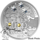 Canada: 2015 $20 Holiday Reindeer Silver Coin