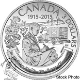 Canada: 2015 $3 100th Anniversary of In Flanders Fields Silver Coin