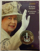 Canada: 2006 25 Cent 80th Birthday of the Queen Coloured Coin
