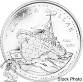Canada: 2010 $1 100th Anniversary of the Canadian Navy BU Silver Dollar
