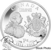 Canada: 2012 $50 King George III Peace Medal 5 oz. Fine Silver Coin