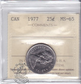 Canada: 1977 25 Cents ICCS MS65 Coin nr 3