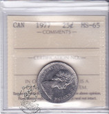 Canada: 1977 25 Cents ICCS MS65 Coin nr 4