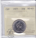 Canada: 1977 25 Cents ICCS MS65 Coin nr 5