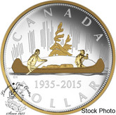 Canada: 2015 $1 Renewed Silver Dollar The Voyageur Silver Coin
