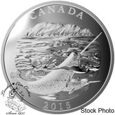 Canada: 2015 $125 Conservation Series The Narwhal Silver Coin