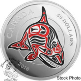 Canada: 2016 $50 Mythical Realms of the Haida Series The Orca Silver Coin