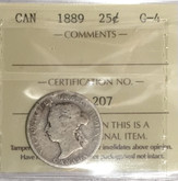 Canada: 1889 25 Cents ICCS G4 KEY DATE