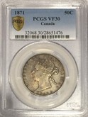 Canada: 1871 50 Cent PCGS VF30