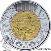 Canada: 2015 $2 In Flanders Fields Toonie Coin
