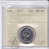Canada: 1977 25 Cents ICCS MS65 Coin nr 13