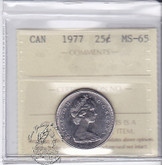Canada: 1977 25 Cents ICCS MS65 Coin nr 14