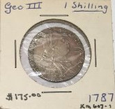 Great Britain: 1787 Shilling George III No Hearts