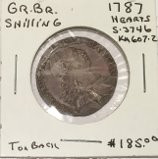 Great Britain: 1787 Shilling George III #2