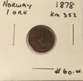 Norway: 1878 Silver 1 Ore