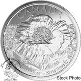 Canada: 2015 25 Cents Poppy Non-Coloured Coin BU