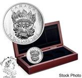 Canada: 2016 $25 Sculptural Art of Parliament: Grotesque Wild Green Man Silver Coin