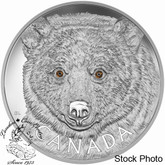 Canada: 2016 $250 In the Eyes of the Spirit Bear Silver Coin