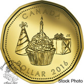 Canada: 2016 $1 Cupcake Presents Birthday Loonie