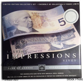 Canada: 1986 - 2001 $5 Lasting Impressions Banknote Set
