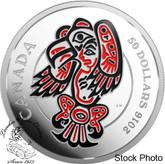 Canada: 2016 $50 Mythical Realms of the Haida - The Eagle Silver Coin