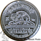 Canada: 5 oz Beaver Bullion Poured Button Hard at Work