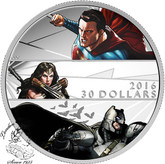 Canada: 2016 $30 Batman v Superman: Dawn of Justice™ - Fine Silver Coin