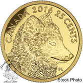 Canada: 2016 25 Cent Predator Vs. Prey: Traditional Arctic Fox Gold Coin