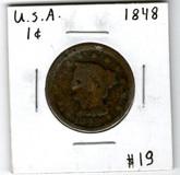 United States: 1848 Large Cent #2