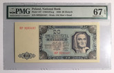 Poland: 1948 20 Zloty National Bank Banknote PMG MS67 EPQ