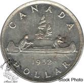 Canada: 1952 $1 WL AU50